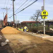 Subgrade preparation for pervious sidewalk between intersection of MLK and Milwaukee and end of project at Sta 70+50 to 71+50