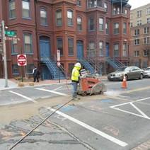 Saw-Cutting on N Street for Manhole installation