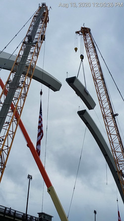 Last Piece of FDMB Arch Erection Center