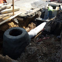 Combine Sewer Manhole and connection pipe to Double Catch Basin at Rhode Island Ave on the Westside
