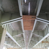 Corman Installed Demo Shield Span at Span 13 Sta. 919+38+/- to sta. 919+73+/-.