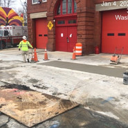 Driveway repair in front of fire station and PCC restoration for electrical conduits trenches