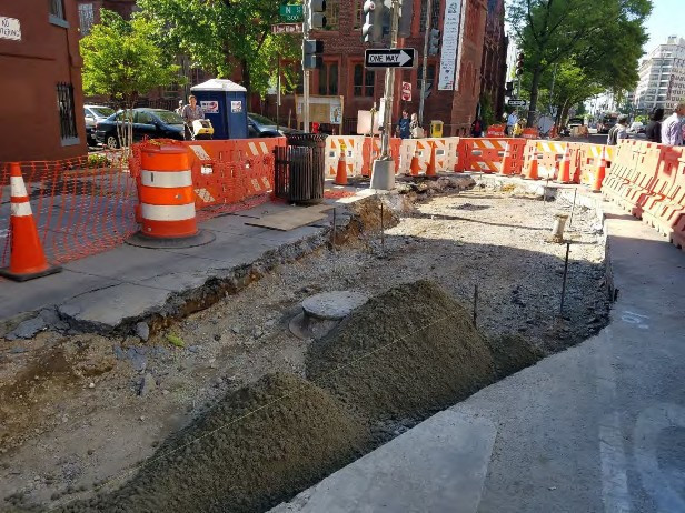 Installation of Bump Out at the NE corner of N Street on the Eastside