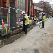 Installation of Granite Curb between Q Street and Corcoran Street