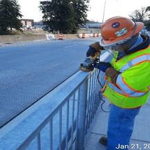 Punchlist Work Activities, Pedestrian Railing.