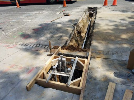 Installation of new Streetlight Foundation between Rhode Island Ave and P Street