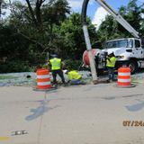 Cleaning Inlet and Sewer Pipes, East Side of the Project