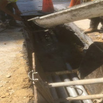 Encasement of PVC Conduit on the Westside of N Street
