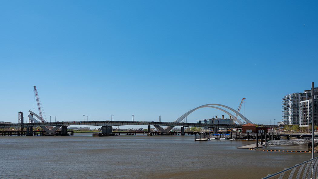 Construction progress - two completed arches