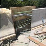 Corman's Foreman Fedro and crew install Rebar (reinforcement steel for cheek wall SouthEast side of bridge#1017