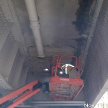 Repairing Bridge Drainage Collector System, West Side.