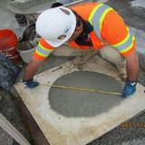 Testing SCC for Bridge Pedestals, South Bridge.