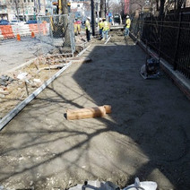 Placement of GAB prior to PCC Sidewalk replacement