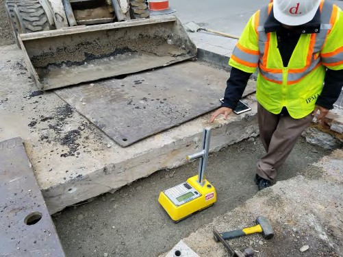 QA/QC taking compaction Test on Aggregate Base Material