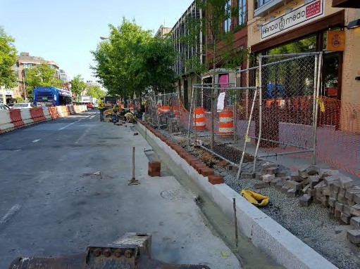 Placement of Brick Gutter between N Street and Rhode Island Ave Eastside