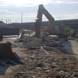 Median Barrier Demo, East Side of the Bridge