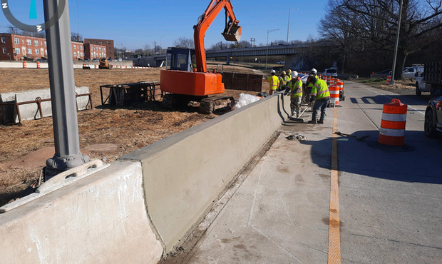 F-shape Barrier Reconstruction at I-295NB Ramp