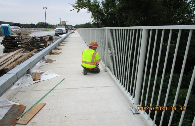 East Capitol Street Bridge Over Anacostia River, South Bridge Sidewalk.