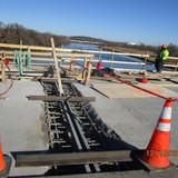Replacing Strip Seal Joint at Pier 10, North Bridge.