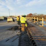 Removing Existing Parapet, North Bridge.