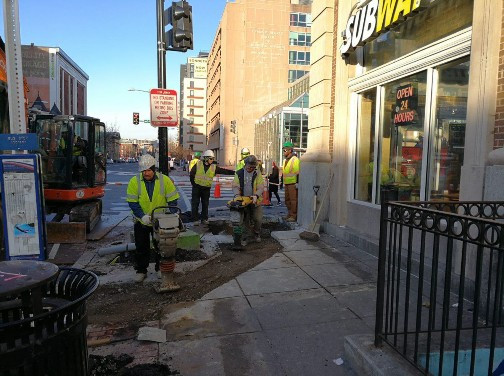 Placing Backfill at the NE Corner of 14th and U Street
