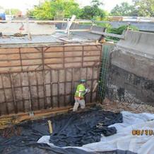 Ramp C Backwall Reconstruction, South Bridge.
