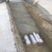 PVC Conduit encasement between Wallach and U Street