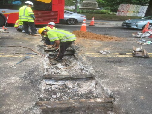 Removal of Street Car Tracks in electrical Duct Bank Trench between Thomas Circle and N Street