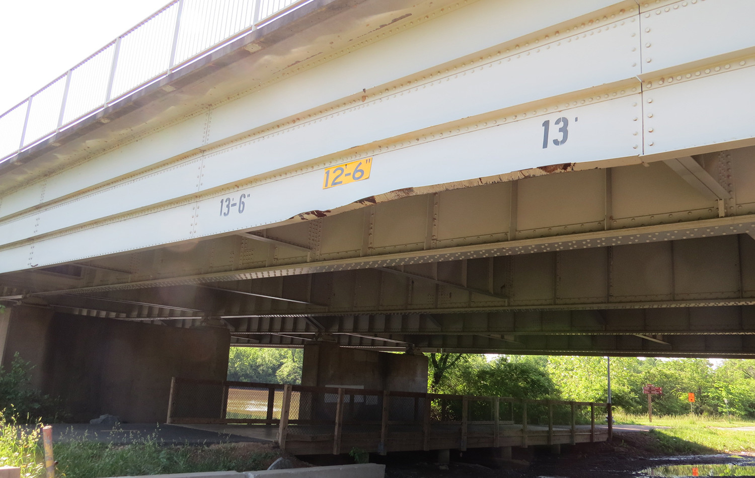 Span 1 North Side Girder Impact Damage