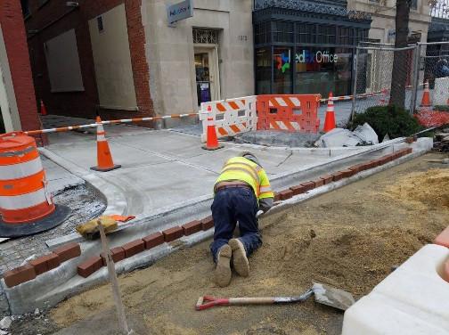 Installation of Brick Gutter at 1508 14th Street