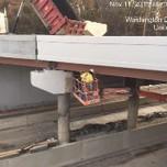 Staining bridge 1016 pier cap.
