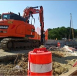 Demolition for proposed approach slab on Bridge # 1017 Abutment-A over I-295 SB