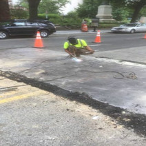 Welding and Pinning of Steel Plates between Thomas Circle and N Street