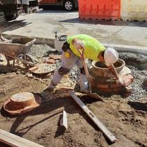 DEN crew adjusted 4 Utility Manholes on Friday 8-30-2019