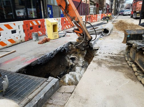 Abandonment of existing catch basin at 14th and W Street