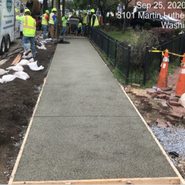 Placing pervious concrete sidewalk at 5th- Raleigh-Parkland-Malcolm X /MLK SB Sta: 50+50 to 63+50)