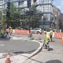 DEN completing sidewalk finish work at 14th St. & P Street