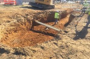 Excavation for proposed Bioretention Facility