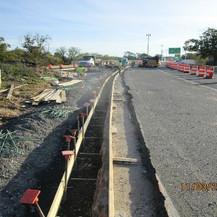 West Gore Single Face Barrier Reconstruction, Eastbound.