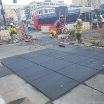 Sidewalk finishing at SWC of 14th & U St