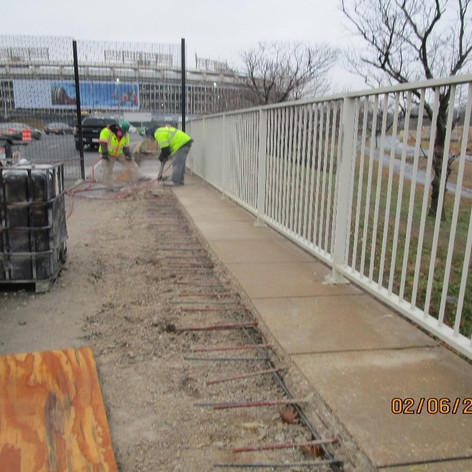 Sidewalk Removal at the West Abutment