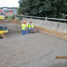 Compaction at East Approach Slab, North and South Bridge.