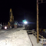 Sawcutting existing bridge 1017 deck slab