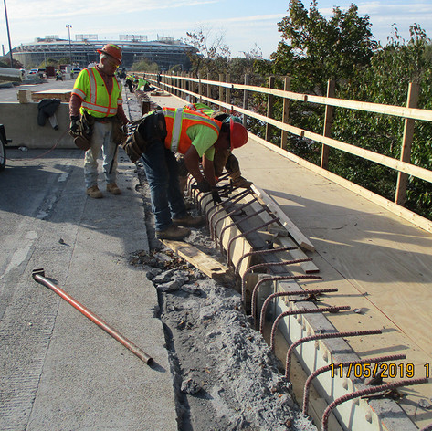 Forming Sidewalk, North Bridge.