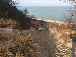 RV in the cold, Indiana Dunes SP