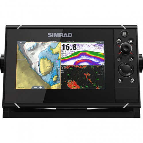 """NSSevo3 Simrad 7"""" display m/GPS, ekkolodd & Wi-Fi (uten svinger)"""
