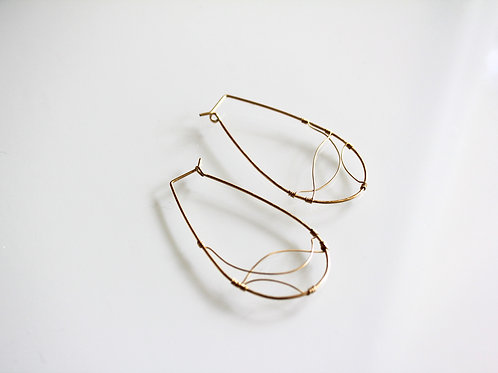 Gold Wire Waves Earrings
