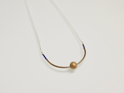 Stardust Bead Half Moon Necklace