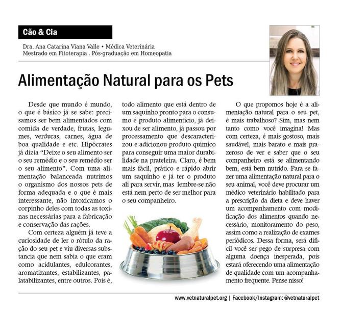 Alimentação Natural para Pets!!!