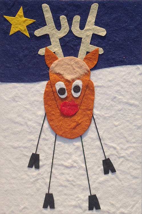 Long Legged Christmas Card